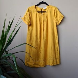 ee:some Mustard Yellow Short Sleeve Mini Dress S